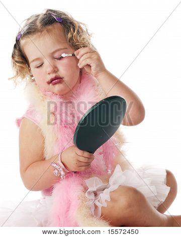 Preschooler Applying Makeup