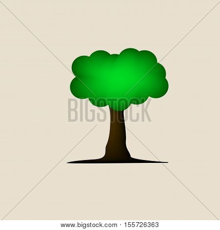 tree vector green design illustration on background