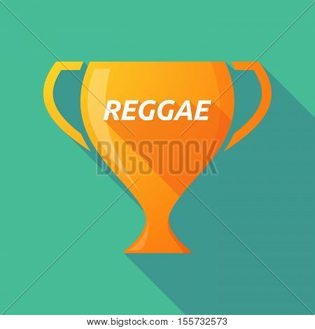 Long Shadow Award Cup With    The Text Reggae
