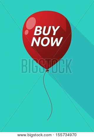 Long Shadow Balloon With    The Text Buy Now