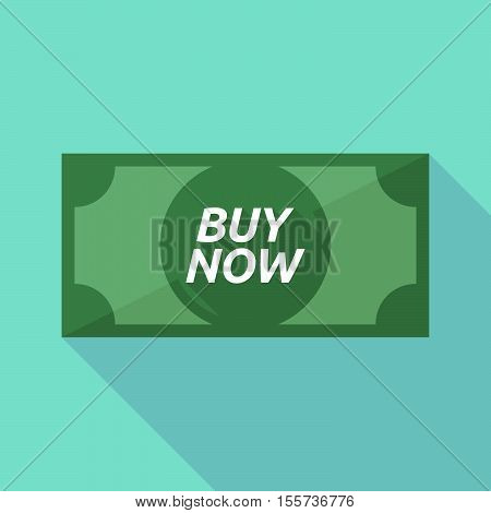 Long Shadow Bank Note With    The Text Buy Now