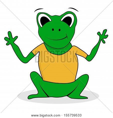 Frogling green character. Frog isolated vector frog cartoon illustration