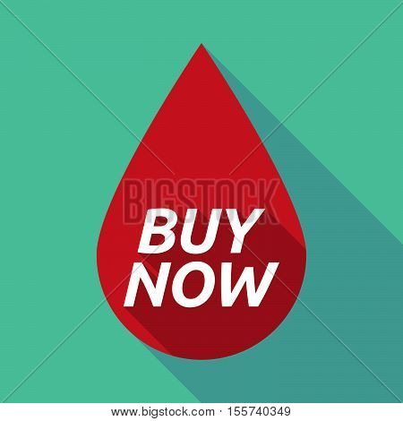 Long Shadow Blood Drop With    The Text Buy Now