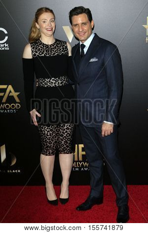 LOS ANGELES - NOV 6:  Bryce Dallas Howard, Edgar Ramirez at the 20th Annual Hollywood Film Awards  at Beverly Hilton Hotel on November 6, 2016 in Beverly Hills, CA