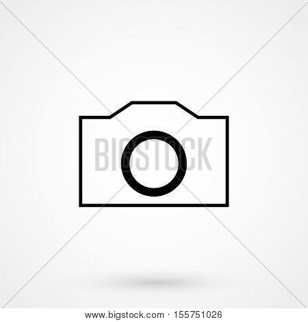 Camera Icon Vector Flat