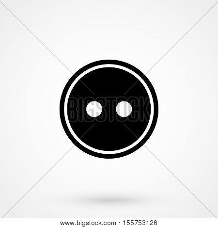 Button Clothes Icon Vector Flat
