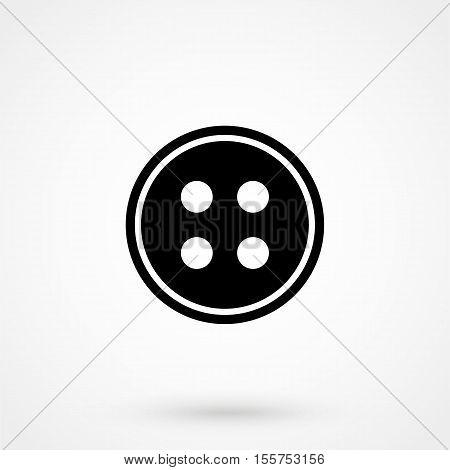 Cloth Button Icon Vector Flat