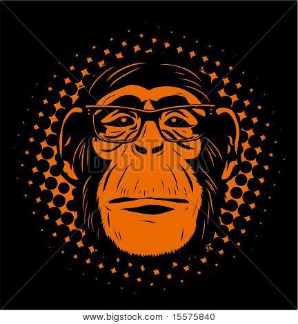 Chimp-in-glasses