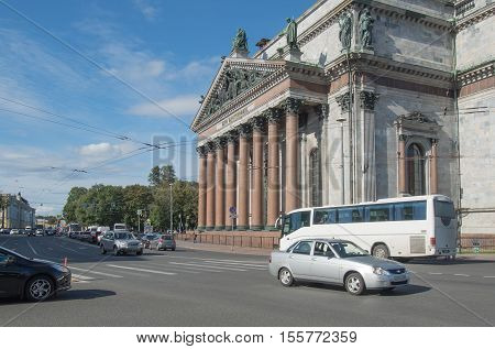 Saint Petersburg, Russia September 12, 2016: St. Isaac cathedral in St. Petersburg, Russia.