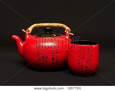 Chinese Teapot With Cup