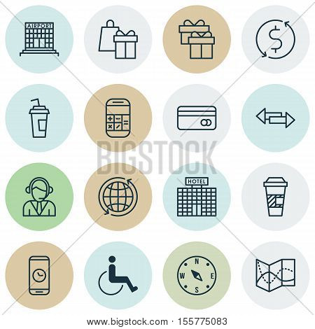 Set Of Transportation Icons On Shopping, Money Trasnfer And Plastic Card Topics. Editable Vector Ill