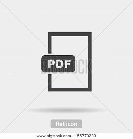 Pdf format icon Vector is type EPS10.