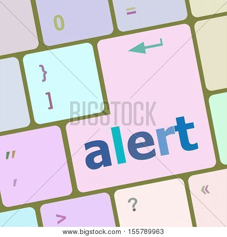 alert button on the keyboard key, business concept