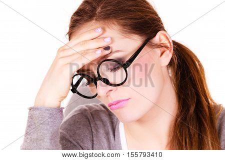 Woman Suffering From Headache Migraine Pain