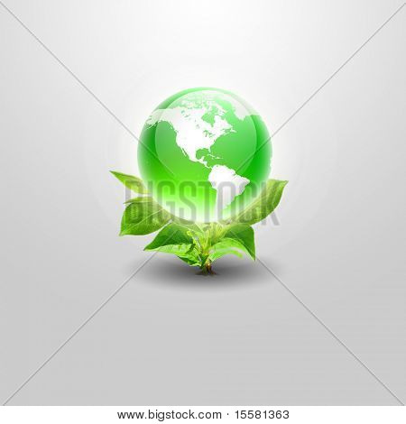 Our own Earth. Symbol of environmental protection