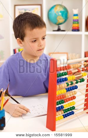 Kid Doing Math Exercise