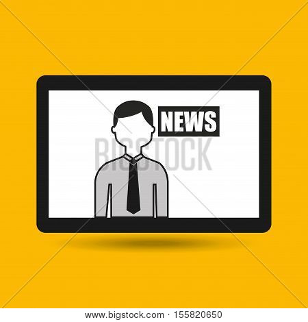 hands holding tablet journalist news vector illustration eps 10