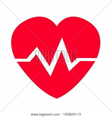 an images of heart cardio pulse icon illustration design