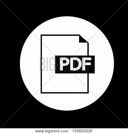 an images of PDF icon illustration design