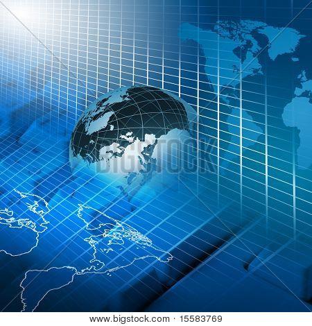 negocios y tecnología global moderna ilustrado
