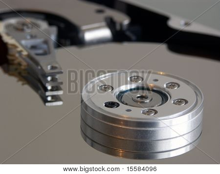 details of an internal computer hard drive