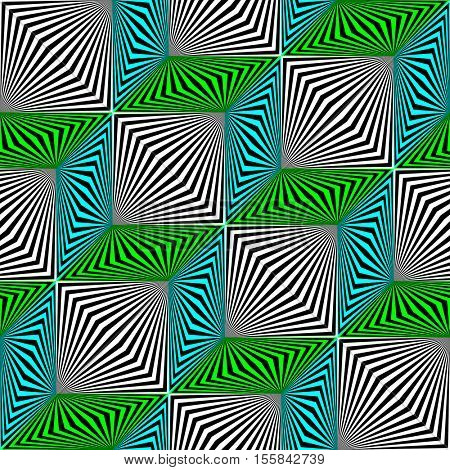 Seamless Zig Zag Pattern. Abstract Gradient Stripe Texture. Vector Fabric Structure Background. Minimal Optical Illusion Wallpaper