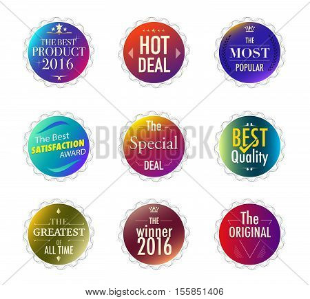 Set Of Promotion And Maketting Label. Badge Design. Vector Stock.