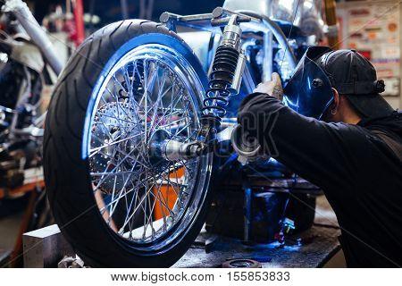 Work of welder