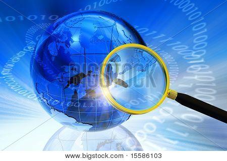 Internet/Global communication concept