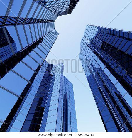 Raspadores 3D azul cielo y azul cielo