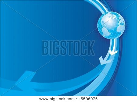 Globe of the world, vector illustration
