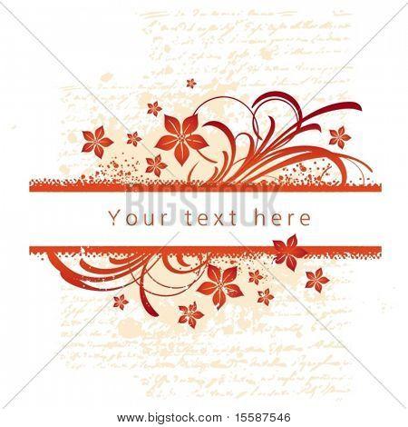 Floral decorative frame, vector illustration