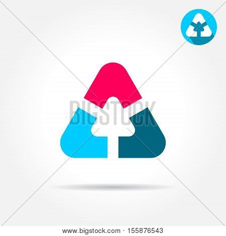 Delta letter sign triangle shape with smoth edges 2d vector icon illustration on gray background