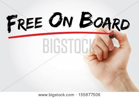 Hand Writing Free On Board With Marker