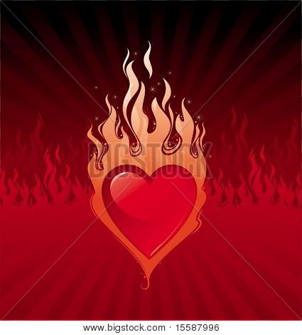 Flaming heart - infernal love