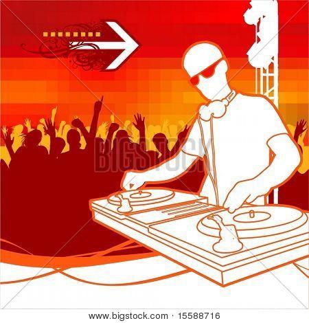 DJ en partido
