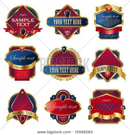 Vector collection of luxury usa labels