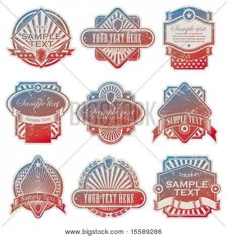 Vector collection of vintage usa labels