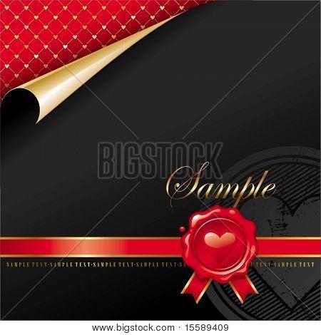 Luxury design with Valentines wax seal
