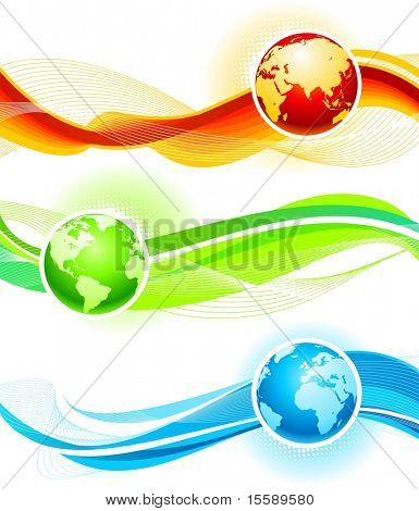 Color waves and globes