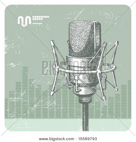 Hand drawn microphone