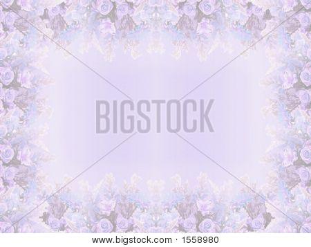 Elegant Blue Floral Border