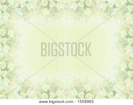 Elegant Yellow Floral Border
