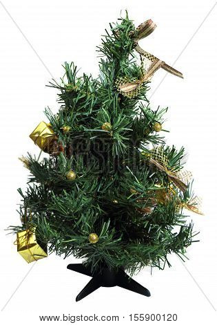 christmas tree for holiday on white background