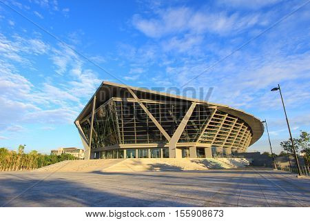 PRINCE MAHIDOL HALL,Mahidol University,Salaya,Phutthamonthon district,Nakhon Pathom Province,Thailand.the grand hall as the concert hall and the venue for graduation ceremony of Mahidol University