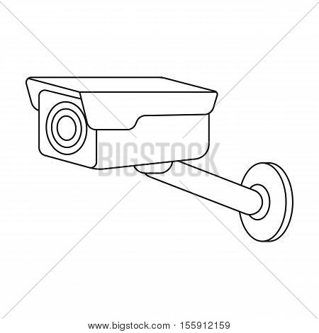 Hidden camera icon in outline style isolated on white background. Hotel symbol vector illustration.