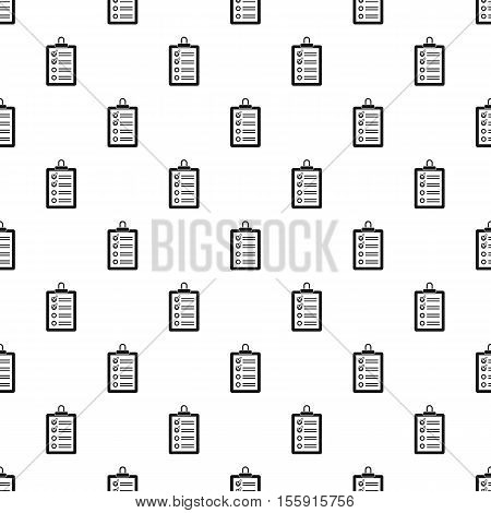 Clipboard with checklist pattern. Simple illustration of clipboard with checklist vector pattern for web