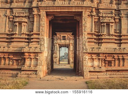 Old building and arch at Hampi India