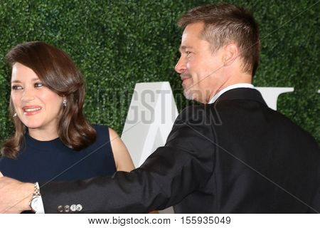 LOS ANGELES - NOV 9:  Marion Cotillard, Brad Pitt at the