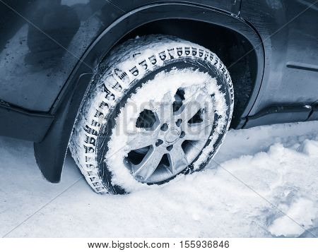 Car Wheel With Studded Tire